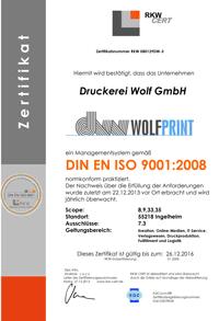 Wolf-Gruppe: Erfolgreiches Re-Audit der EN ISO 9001