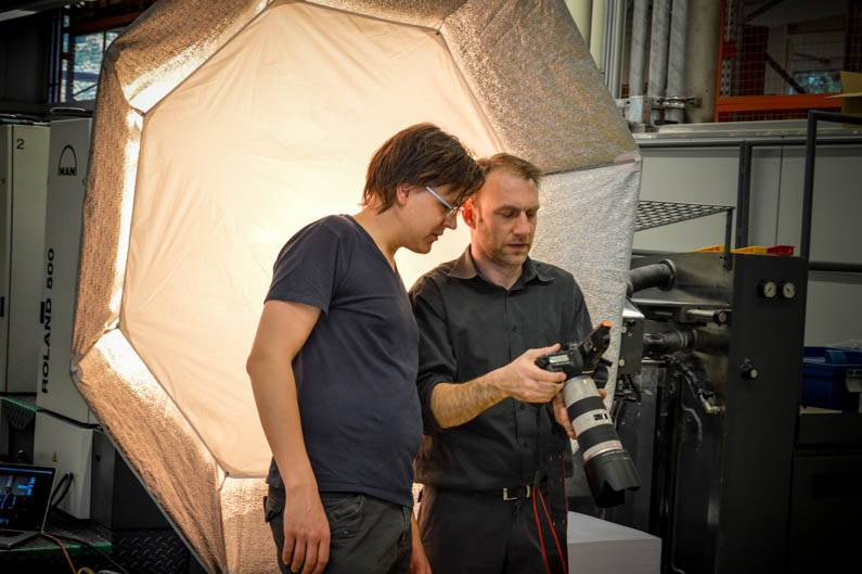 Fotoshooting Making-Of Wolf-Manufaktur Relaunch