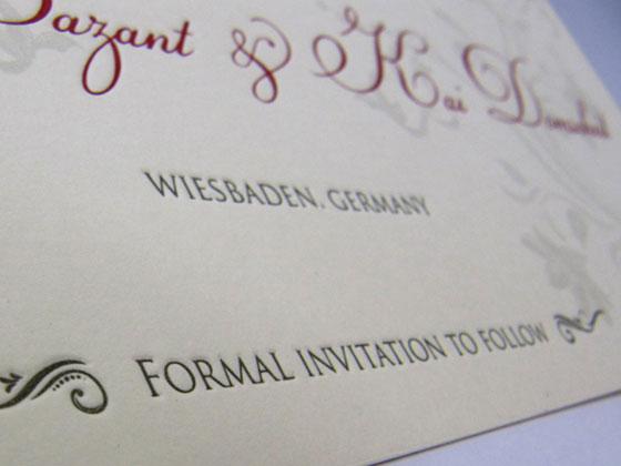 Hochzeitskarten mit Letterpress veredeln