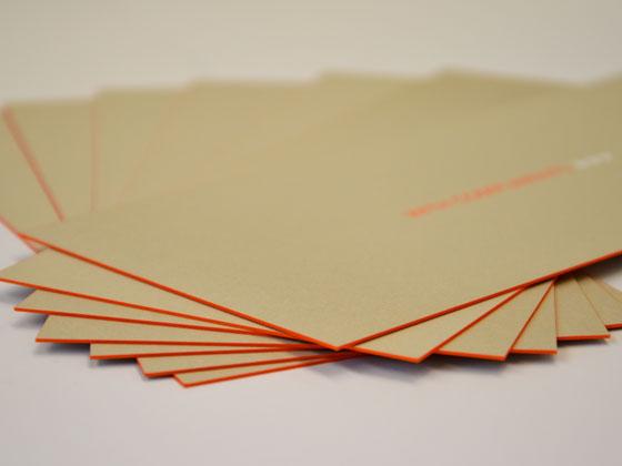 Einladungskarten, veredelt mit einem Farbschnitt