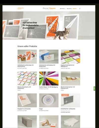 Screenshot des Wolf-Manufaktur Online-Shops
