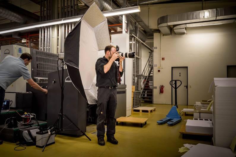 Fotoshooting bei den Spezialisten für Druckveredelung!