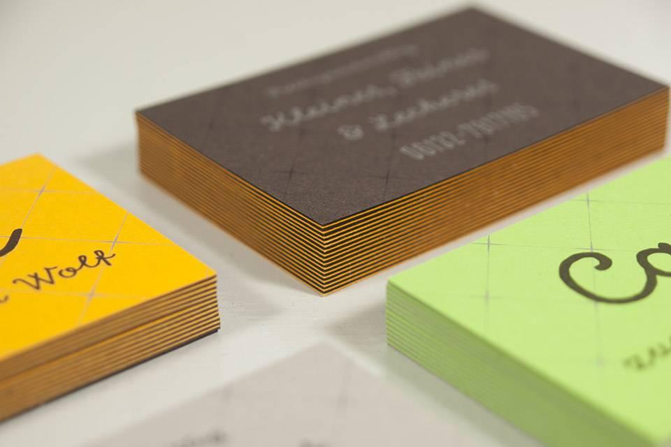 Duplex-Visitenkarte mit Offsetdruck - Wolf-Manufaktur