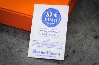 Musterbox-Rabatt