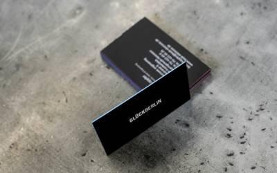 Visitenkarten: Eleganz in Schwarz