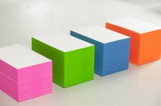 Blankovisitenkarten mit Farbschnitt