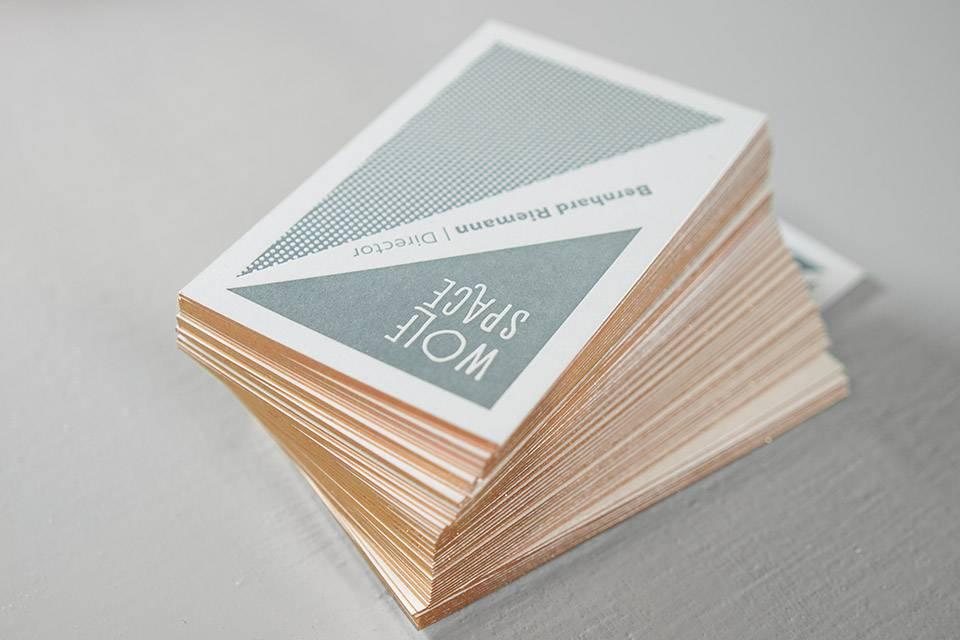 Visitenkarte Letterpress Mit Folienschnitt