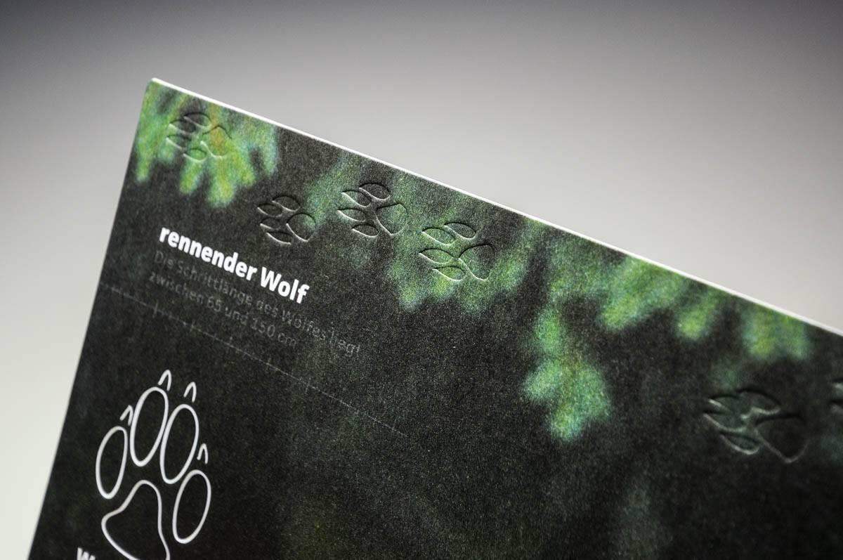 Blindprägung Tief Musterkarte Wolf-Manufaktur