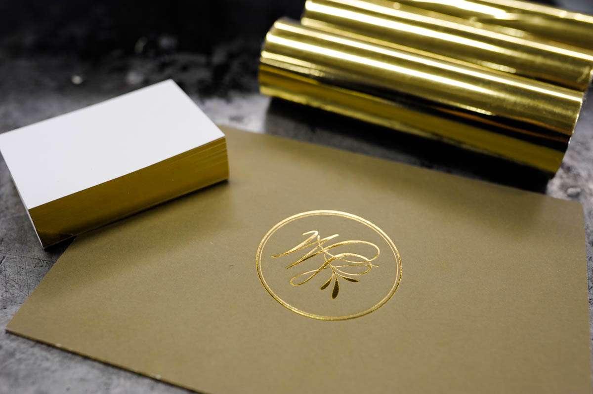 Folienschnitt Goldschnitt Heißfolie
