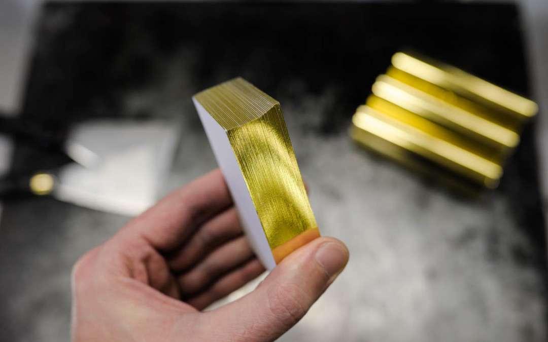 Goldschnitt – Ein edler Look für ihre Drucksachen