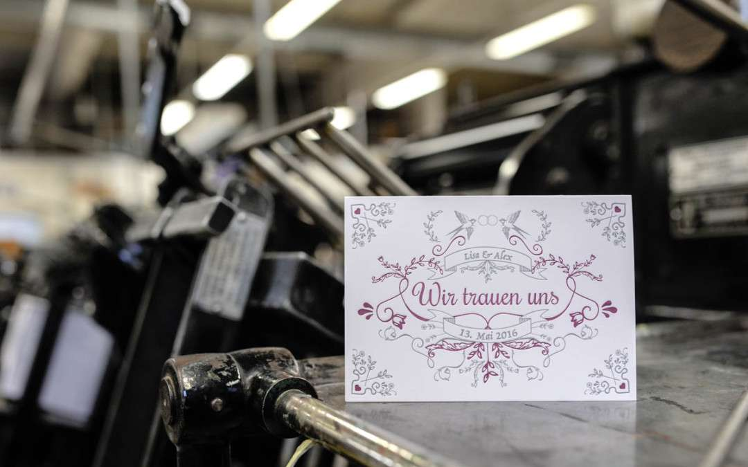 Letterpress Hochzeitskarten