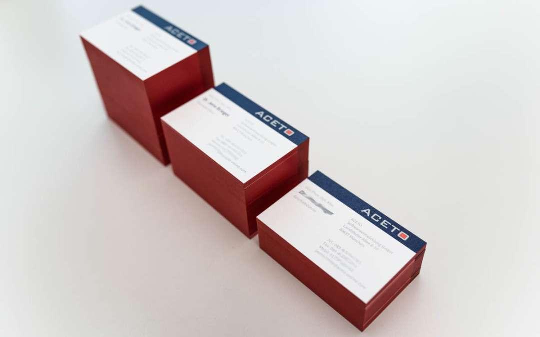 Veredelte Visitenkarten im Digitaldruck