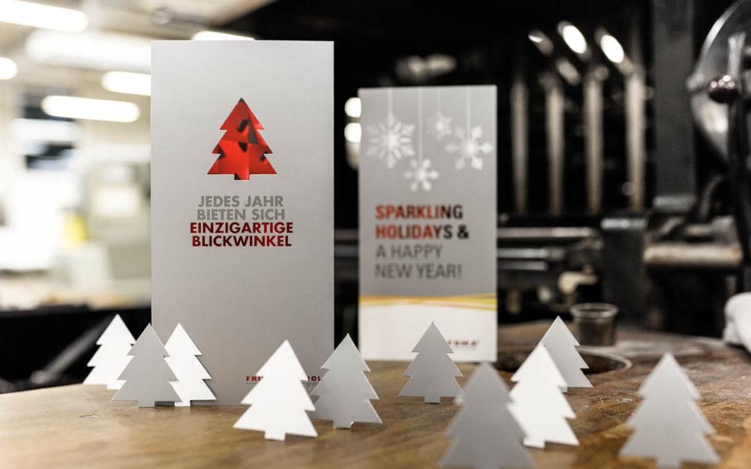 Festlich – Veredelte Weihnachtskarten