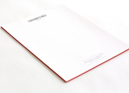 Buchdruck at its best - manche sagen auch Letterpress.