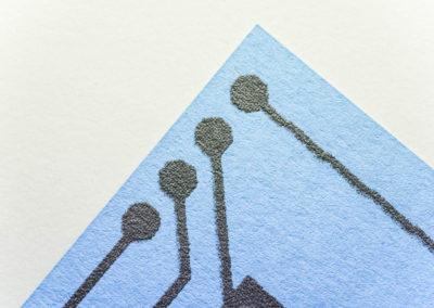 Leifähige Farbe gedruckt auf Papier
