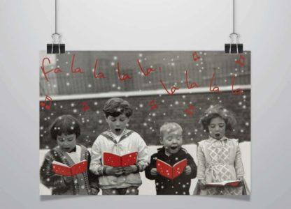 Fotomotiv: Kinder singen ein Weihnachtslied, Save the Children