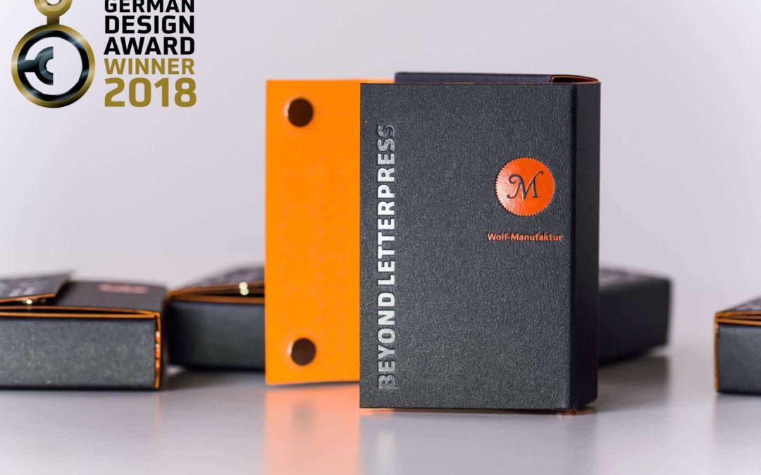 Wolf-Manufaktur ist Preisträger des German Design Award 2018