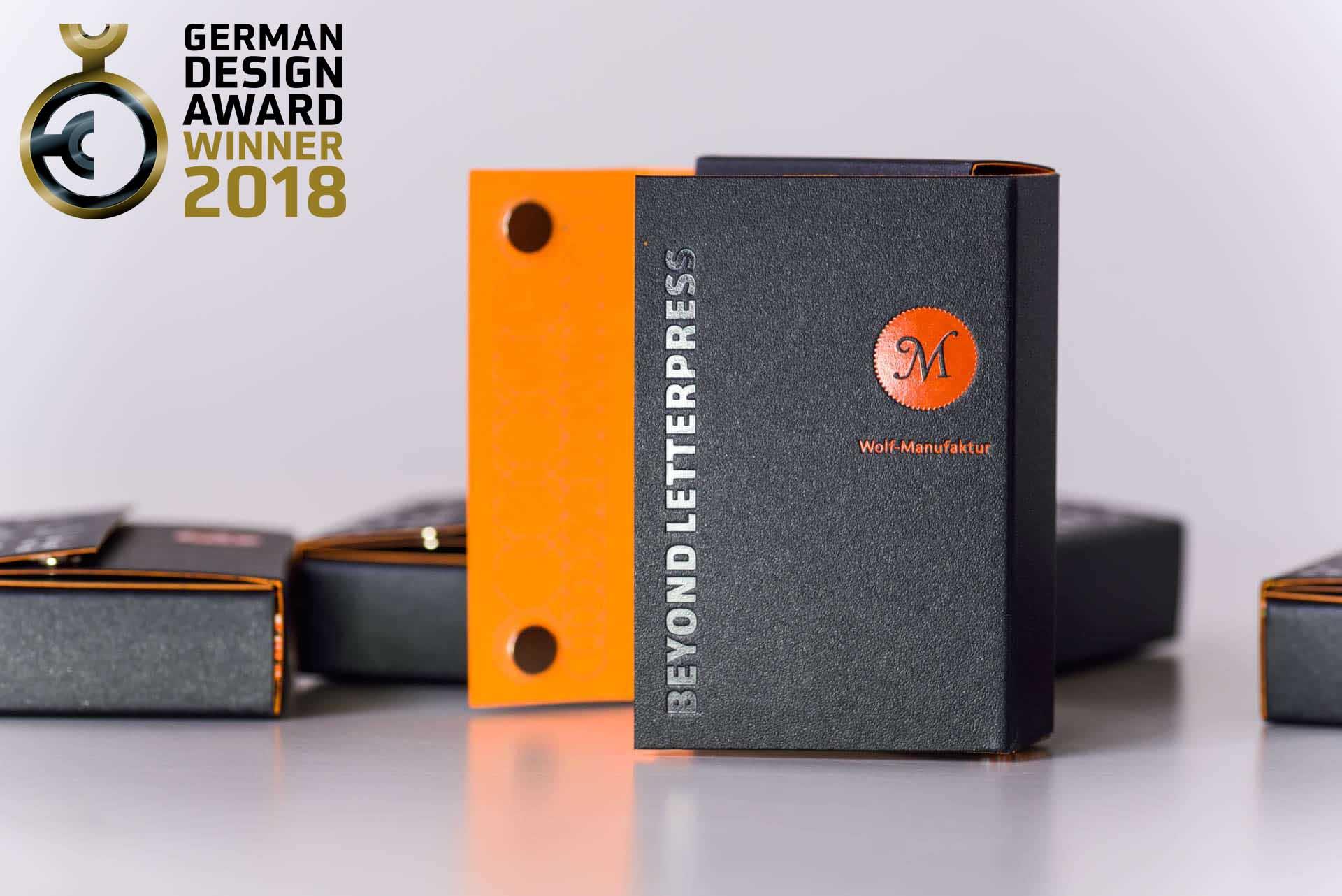 Wolf Manufaktur Ist German Design Award 2018 Winner