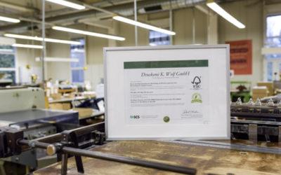 Umweltbewusst drucken mit FSC®-Zertifizierung