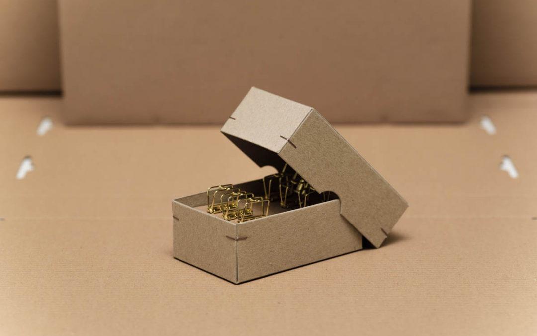 Eckenheftung – drahtige Verbindung für Verpackungen