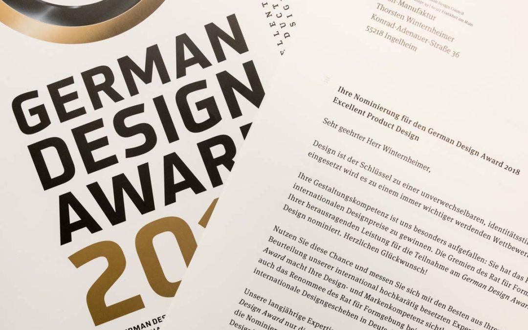 """German Design Award 2018 Nominierung für """"Beyond Letterpress"""""""