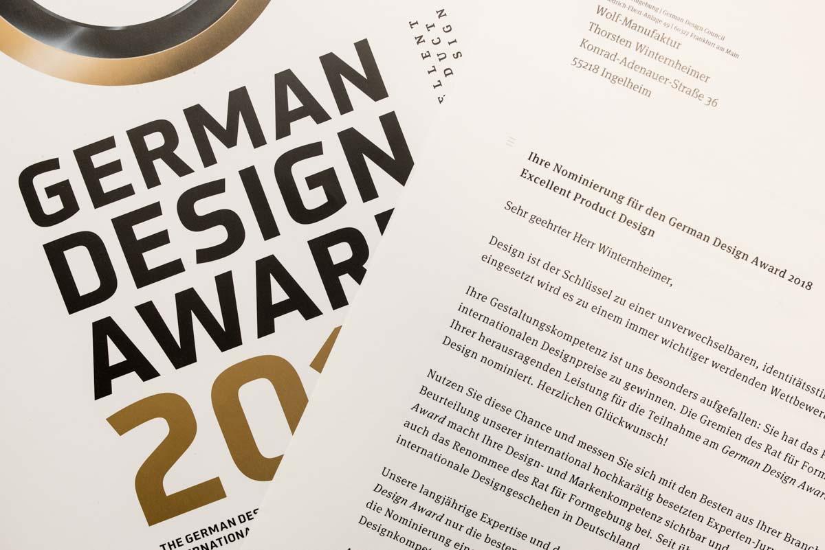 Nominiert Für German Design Award 2018