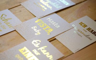 Glanzvolle Postkarten durch Digital Sleeking