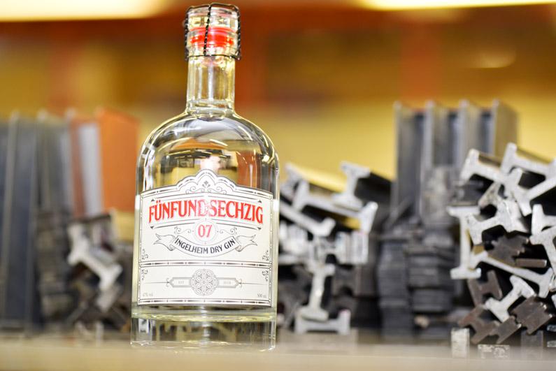 Etiketten für den ersten Ingelheimer Gin – made by Wolf Manufaktur