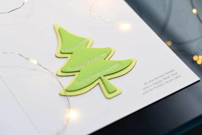 Volle Tanne: Weihnachtskarten für den Verband Deutscher Papierfabriken