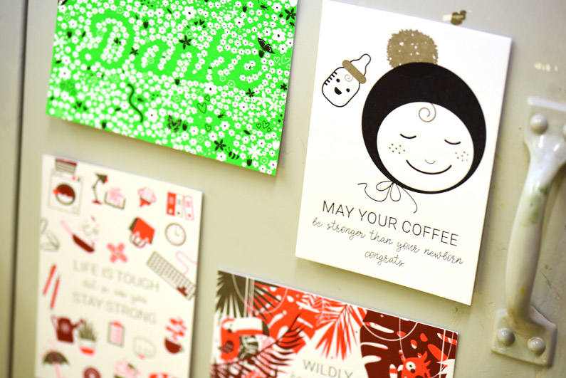 Letterpress all over: Bunt veredelte Postkarten