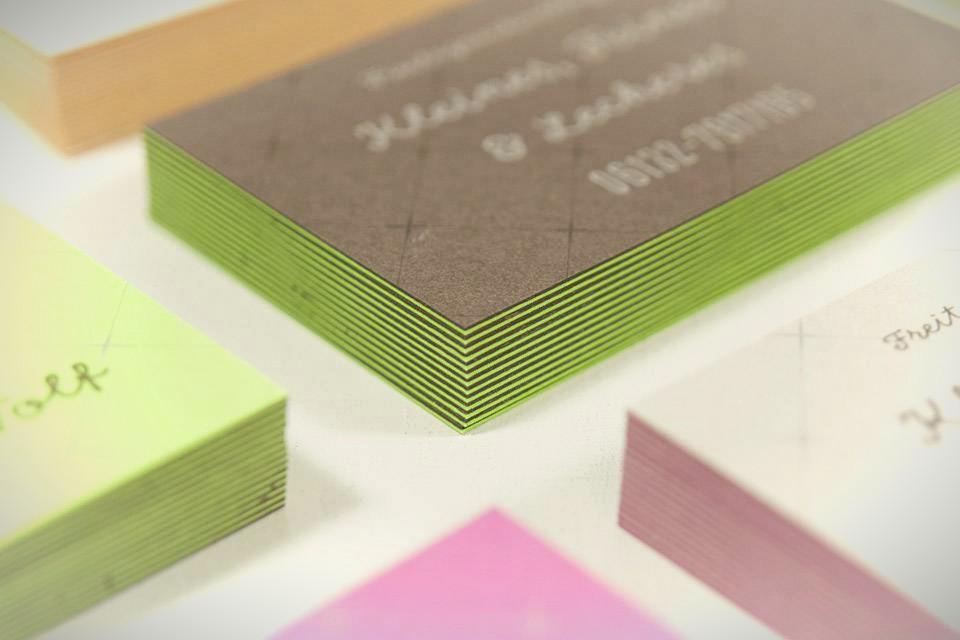Duplex Visitenkarten Aus Gegenkaschiertem Material Als