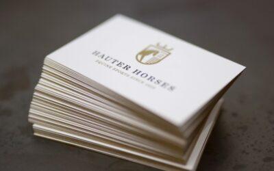Diese Visitenkarten tragen Gold mit Stil