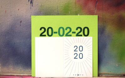 Jahreszahl in symmetrischer Schönheit – Hallo 2020